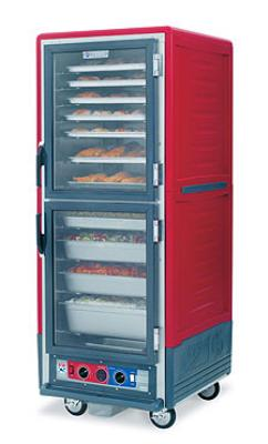 Metro C539HFCU C5 Full Height Heated Holding Cabinet, Insulated, Clear Door, Universal Slides