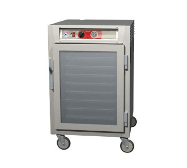 Metro C565-NFC-L C5 1/2-Height Heated Holding Cabinet, Aluminum, Clear Door, Lip Load Slide