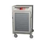 Metro C565-NFC-UPFS C5 1/2-Height Pass Thru Heated Holding Cabinet, Aluminum, Clear/Solid, Universal
