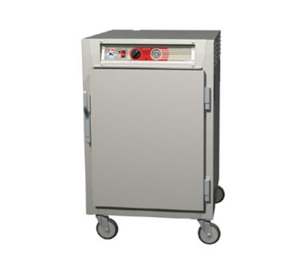 Metro C565-NFS-LPFC C5 1/2-Height Pass Thru Heated Holding Cabinet, Aluminum, Solid/Clear, Lip Load