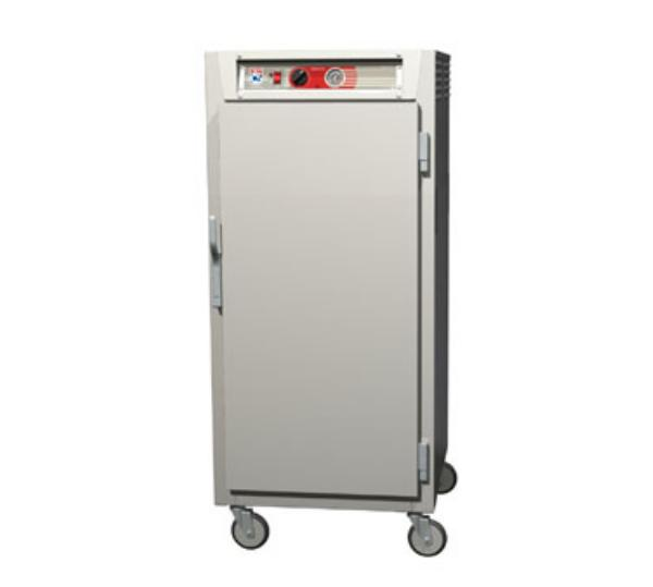 Metro C567-NFS-L C5 3/4-Height Heated Holding Cabinet, Aluminum, Solid Door, Lip Load Slide