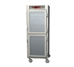 Metro C569-NDC-UPDS C5 Full Height Pass Thru Heated Cabinet, Aluminum, Clear/Solid Dutch, Universal