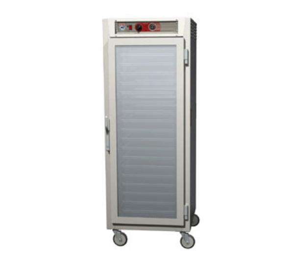 Metro C569-NFC-L C5 Full Height Heated Holding Cabinet, Aluminum, Clear Doors, Lip Load Slides