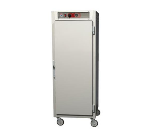 Metro C569-NFS-U C5 Full Height Heated Holding Cabinet, Aluminum,  Clear Doors, Universal Slides