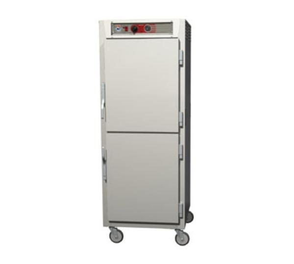 Metro C569-SDS-LPDS C5 Full Height Pass Thru Heated Holding Cabinet, Stainless, Solid Dutch, Lip Load