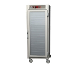 Metro C569-SFC-LPFC C5 Full Height Pass Thru Heated Holding Cabinet, Stainless, Clear Doors, Lip Load
