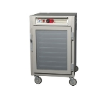 Metro C585-NFC-LPFC C5 1/2-Height Pass Thru Control Temp Cabinet, Aluminum, Clear Door, Lip Load