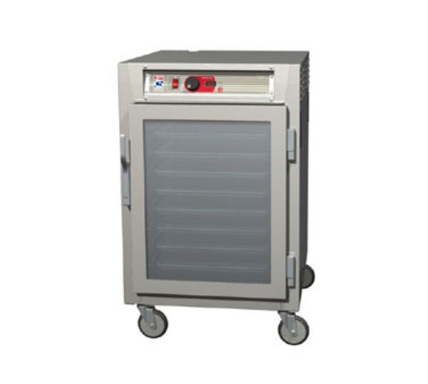 Metro C585-NFC-LPFS C5 1/2-Height Pass Thru Control Temp Cabinet, Aluminum, Clear/Solid, Lip Load