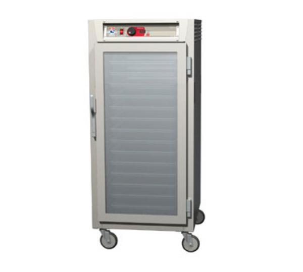 Metro C587-SFC-U C5 3/4-Height Control Temp Holding Cabinet, Stainless, Clear Door, Universal