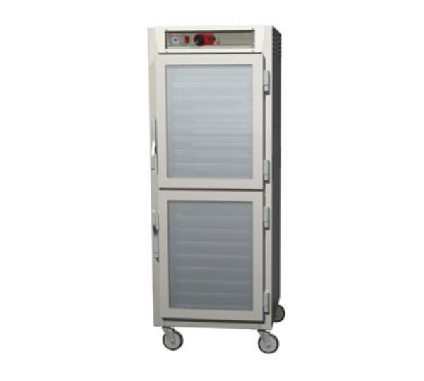 Metro C589-NDC-UPDC C5 Full Height Pass Thru Control Temp Cabinet, Aluminum, Clear Dutch, Universal