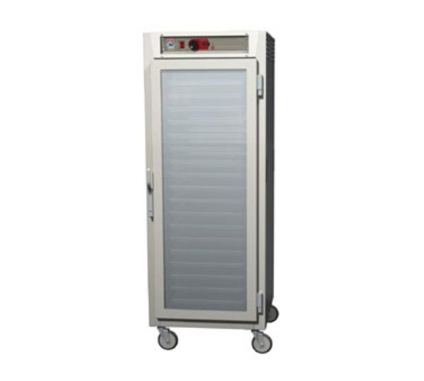 Metro C589-NFC-UPFC C5 Full Height Pass Thru Control Temp Cabinet, Aluminum, Clear Doors, Universal