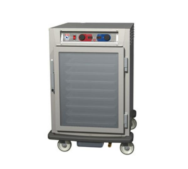 Metro C595-NFC-LPFC C5 1/2-Height Pass Thru Control Temp & Humidity, Aluminum, Clear Doors, Lip Load