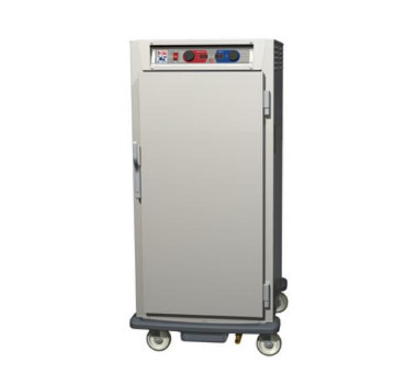 Metro C597-NFS-L C5 9 Series Heated Cabinet, Solid Door, 3/4 Height, Lip Slides, Alum