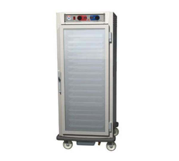 Metro C597-SFC-L C5 9 Series Heated Cabinet, Glass Door, 3/4 Height, Lip Slides, SS