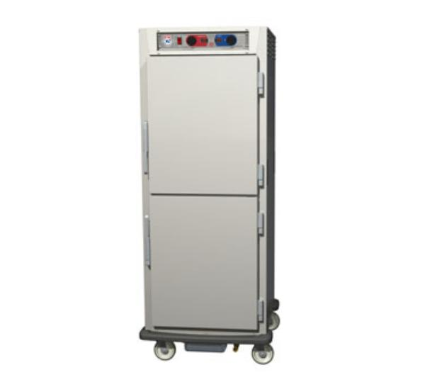 Metro C599-NDS-U C5 Full Height Control Temp & Humidity, Aluminum, Solid Dutch, Universal Slides