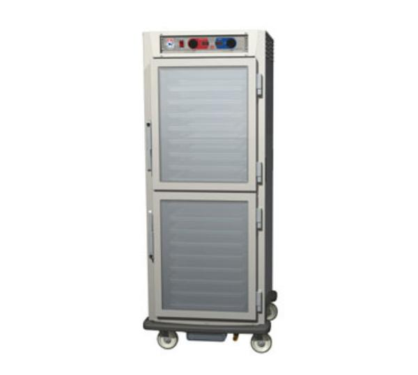 Metro C599-SDC-LPDS C5 Full Pass Thru Control Temp/Humidity, Stainless, Clear/Solid Dutch, Lip Load
