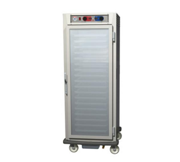 Metro C599-SFC-LPFC C5 Full Height Pass Thru Control Temp/Humid, Stainless, Clear Doors, Lip Load
