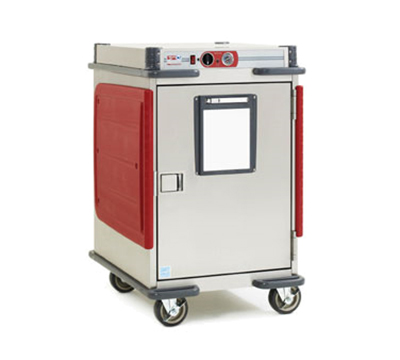 Metro C5T5-ASB Heavy Duty Half Height Heated Cabinet w/ Analog Controller & Adjustable Bottom