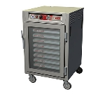 Metro C5Z65-NFC-S C5 Series Heated Pizza Holding Cabinet, 1/2 H, Aluminum, Clear Door