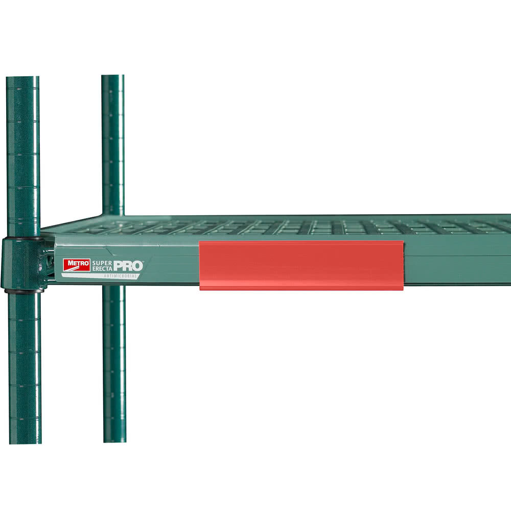 "Metro CSM6-RQ MetroMax Q™ Shelf Marker - 6"" x 1.5"", Red"