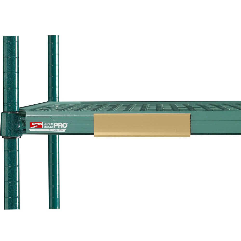 """Metro CSM6-TQ MetroMax Q™ Shelf Marker - 6"""" x 1.5"""", Tan"""