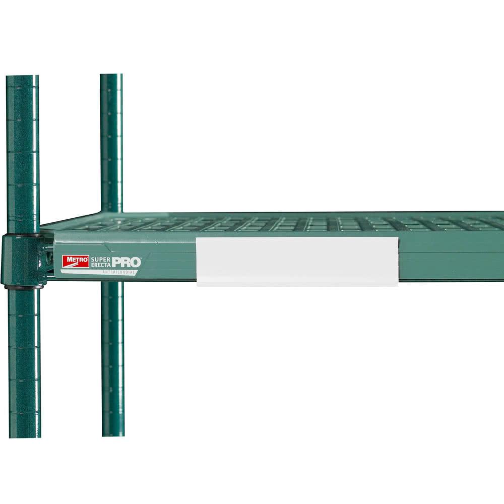 """Metro CSM6-WX MetroMax i® Shelf Marker - 6"""" x 1.5"""", White"""