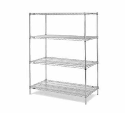 Metro EZ1848NC4 Chrome Wire Shelving Unit w/ (4) Levels, 18x48x74""