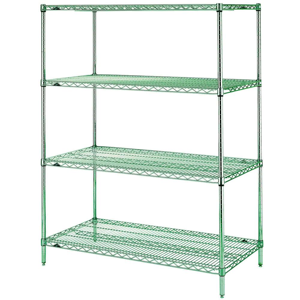 "Metro EZ2448NK3-4 Super Erecta® Epoxy Coated Wire Shelving Unit w/ (4) Levels, 48"" x 24"" x 74"""