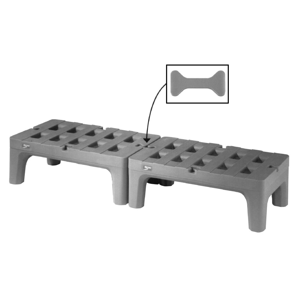 """Metro HP2230PD 30"""" Stationary Dunnage Rack w/ 1500-lb Capacity, Polymer"""