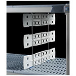 """Metro MD24-24 Shelf Divider for Open Grid & Wire Shelves - 24"""" x 24"""", Gray"""
