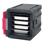 Metro ML300 Mightylite™ End Load Food Pan Carrier w/ (4) Pan Capacity, Black/Red