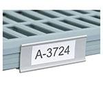 "Metro MQ24LH 15.44"" Label Holder for MetroMaxQ™ or Super Erecta Pro™ Shelves, Plastic"