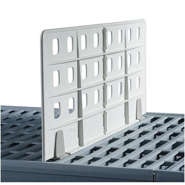 "Metro MXD24-8 MetroMax i® Shelf Divider for Grid & Solid Shelves - 24"" x 8"", Taupe"
