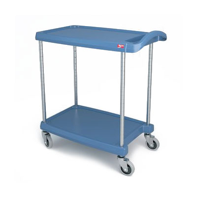 Metro MY1627-24BU 2-Level Polymer Utility Cart w/ 300-lb Capacity, Marine Ledges