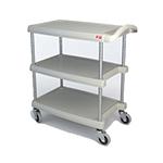 Metro MY1627-34G Utility Cart - 3-Shelf, Open Base, 400-lb Capacity, Gray