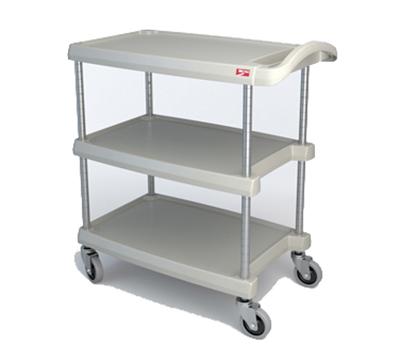 Metro MY1627-34G 3-Level Polymer Utility Cart w/ 400-lb Capacity, Marine Ledges