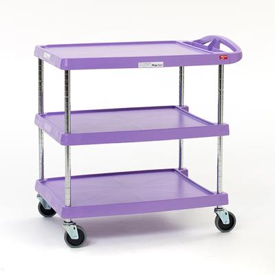 Metro MY2030-24AP 2-Level Polymer Utility Cart w/ 300-lb Capacity, Marine Ledges