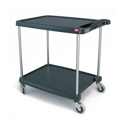 Metro MY2030-24BL 2-Level Polymer Utility Cart w/ 300-lb Capacity, Marine Ledges