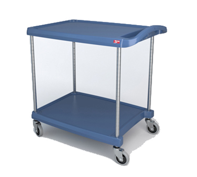 Metro MY2030-24BU 2-Level Polymer Utility Cart w/ 300-lb Capacity, Marine Ledges