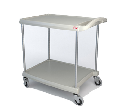 Metro MY2030-24G Utility Cart - 2-Shelf, Open Base, 300-lb Capacity, Gray