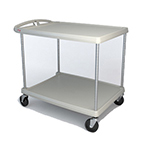 Metro MY2636-25G 2-Level Polymer Utility Cart w/ 300-lb Capacity, Marine Ledges