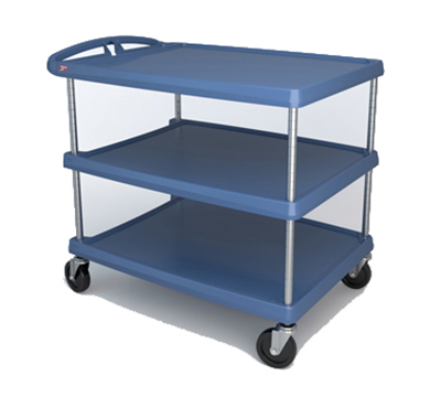 Metro MY2636-35BU Utility Cart - 3-Shelf, Open Base, 500-lb Capacity