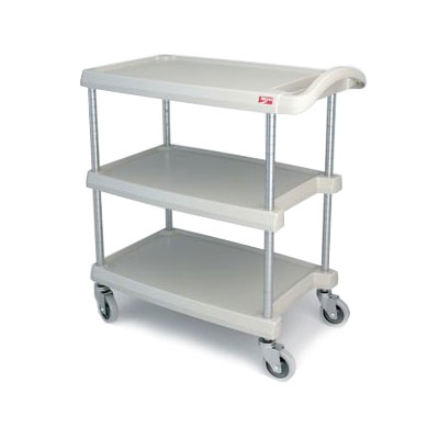 Metro MY2636-35G 3-Level Polymer Utility Cart w/ 500-lb Capacity, Marine Ledges