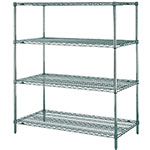 "Metro N356K3 Super Erecta® Epoxy Coated Wire Shelving Unit w/ (4) Levels, 48"" x 18"" x 63"""