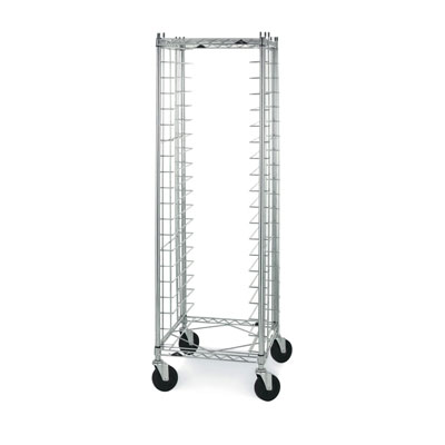 Metro RE3 Wire Bun Pan Rack, Mobile, End Load, 20 Pans, Casters, Zinc Finish