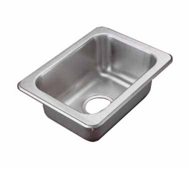 Polar Ware 1731 Yukon Drop In Sink 1 Compartment SS 13 in x 17 in Restaurant Supply