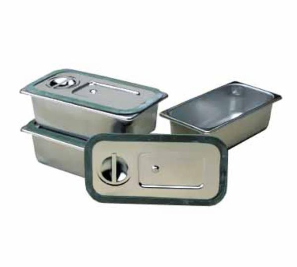 Polar Ware 302GC Steam Table Pan Cover, 1/3 Size, Gasketed w/Handle, Stainless Steel