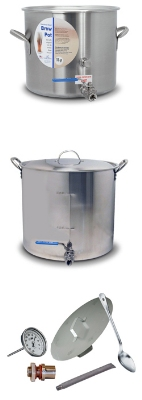 Polar Ware 321BP 32-qt Stock Pot w/ Cover, Ball Valve, Faucet, Stainless