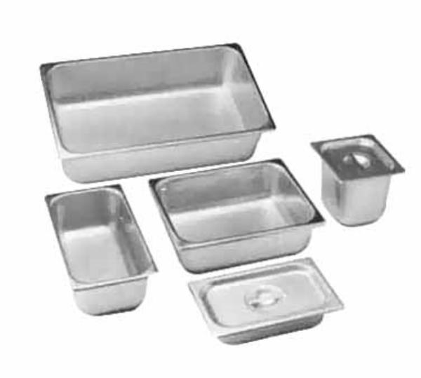 Polar Ware 4022 Steam Table Pan Cover, 1/4 Size, Solid w/Handles, Stainless Steel, NSF
