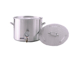 Polar Ware 601BP 60 qt Stock Pot with Faucet and Cover, 1/2 in Thread, Stainless Steel